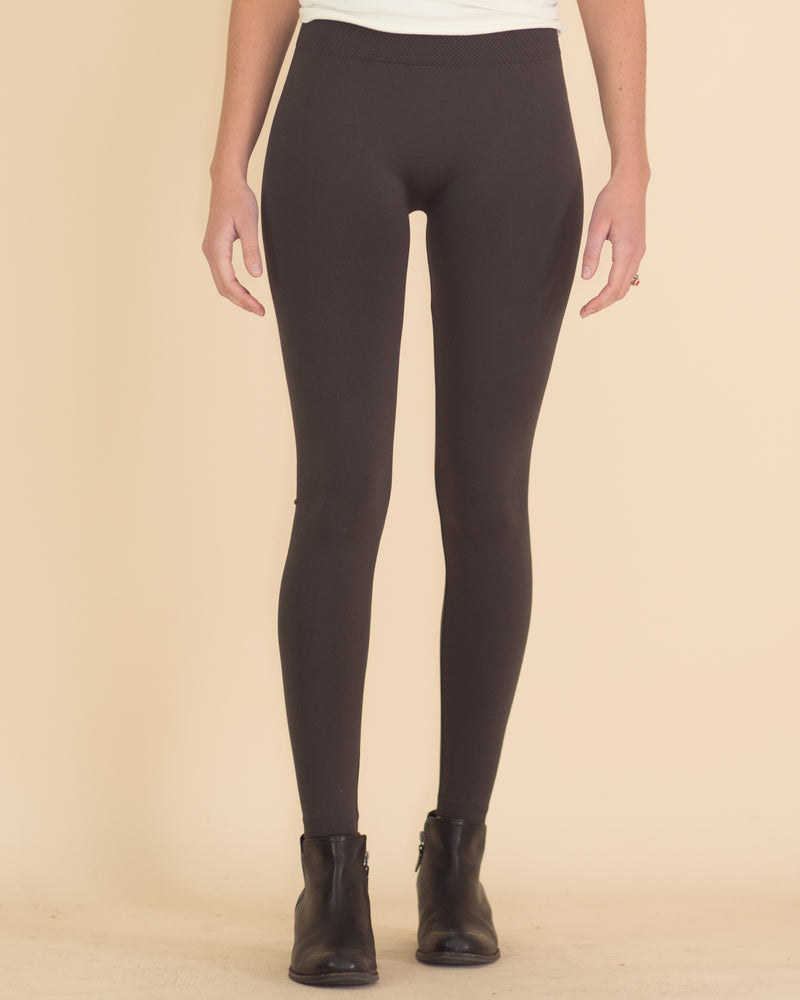 Ultimate High Rise Fleece Leggings- Ash Gray