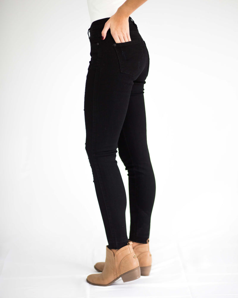 Perfect Fit Black Distressed Jean