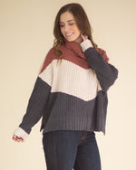Ginger Rose Color Block Sweater