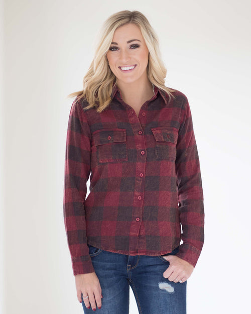 Harris Vintage Wash Flannel Top