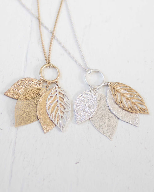 Nina Leaf Necklace | Rose & Remington