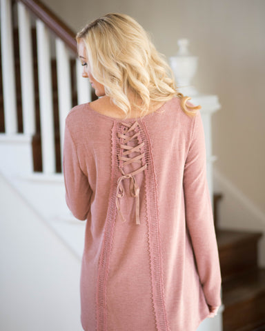 Back Tie Detail Long Sleeve
