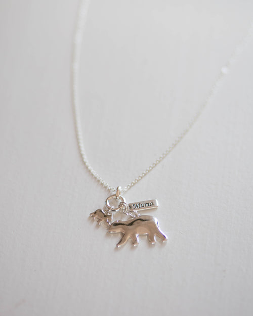 Mama Bear Charm Necklace | Rose & Remington