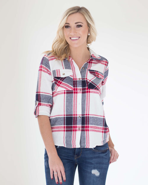 Sophie Soft Plaid Top