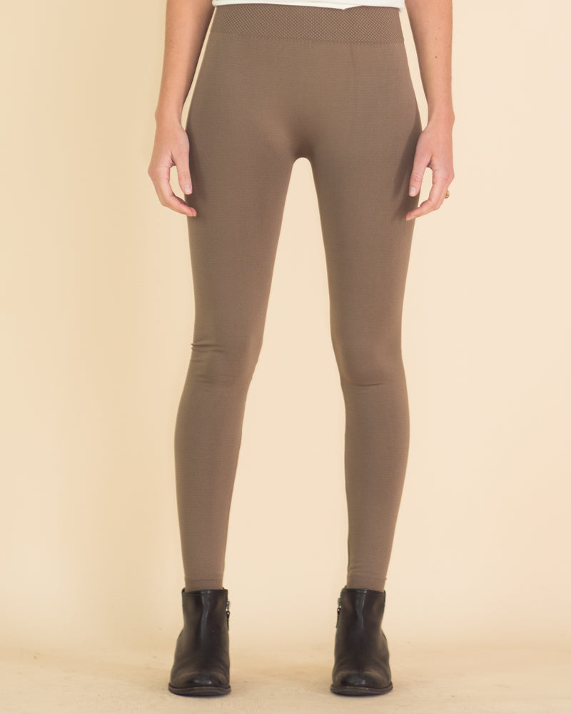 Ultimate High Rise Fleece Leggings-Mocha
