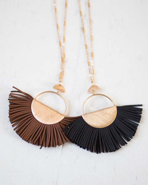 Leather Fringe Necklace | Rose & Remington