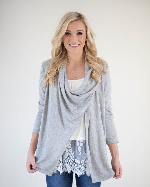 One Button Fleece Cardigan