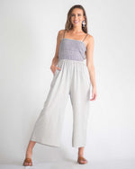Evelyn Woven Tie Jumpsuit