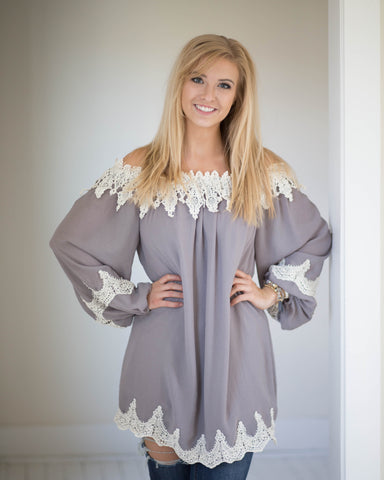 Enchanted Lace Trim Tunic