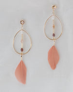 Peachy Feather Earrings | Rose & Remington