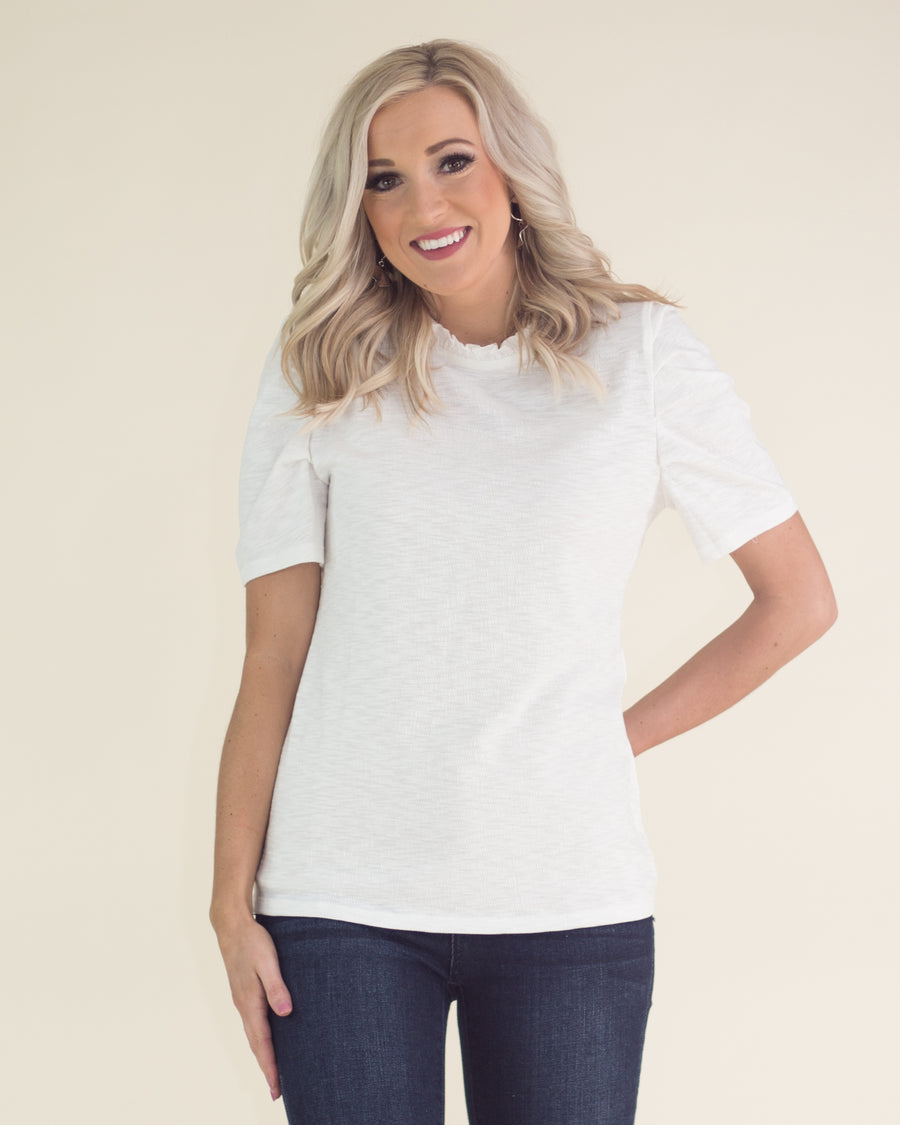 Everly Ruffle Trim Top