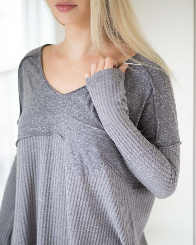 Casey Contrast Knit Long Sleeve | Rose & Remington