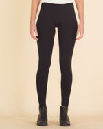 Ultimate High Rise Fleece Leggings-Black