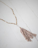 Amber Statement Tassel Necklace | Rose & Remington