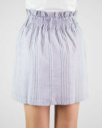 Sia Striped Button Front Skirt