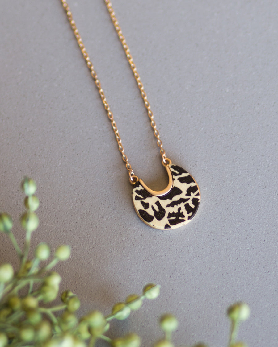 Natural Crescent Necklace