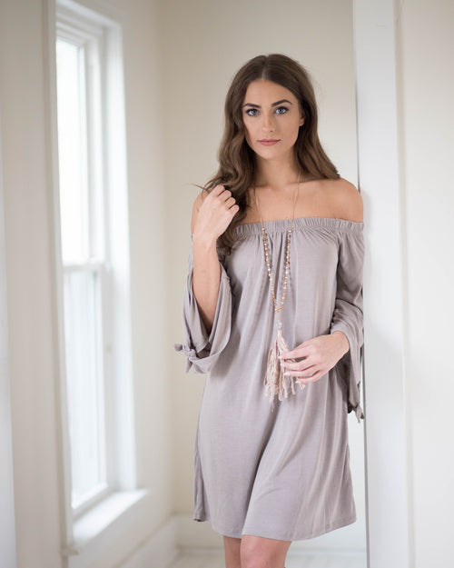Open Shoulder Weekender Dress | Rose & Remington