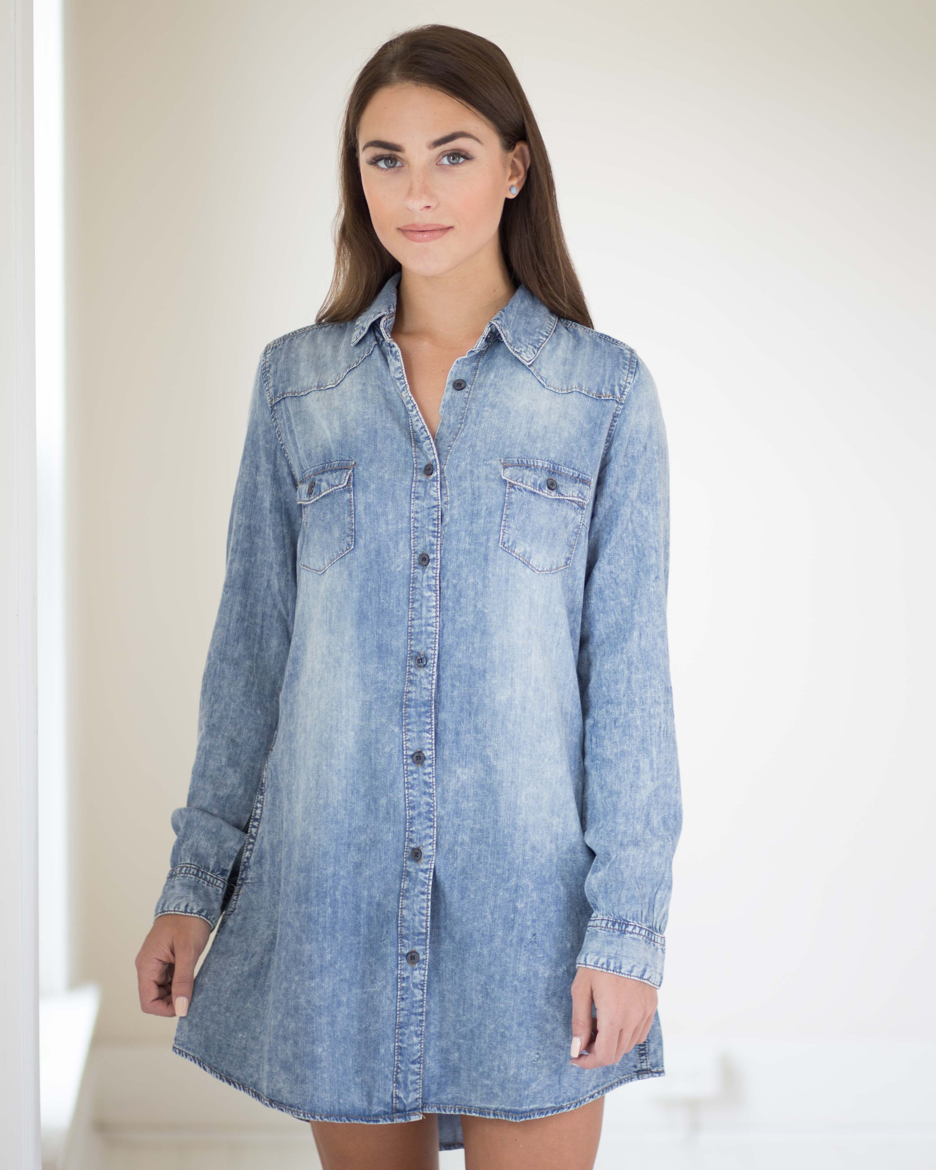 Chantel Denim Shirt Dress | Rose & Remington