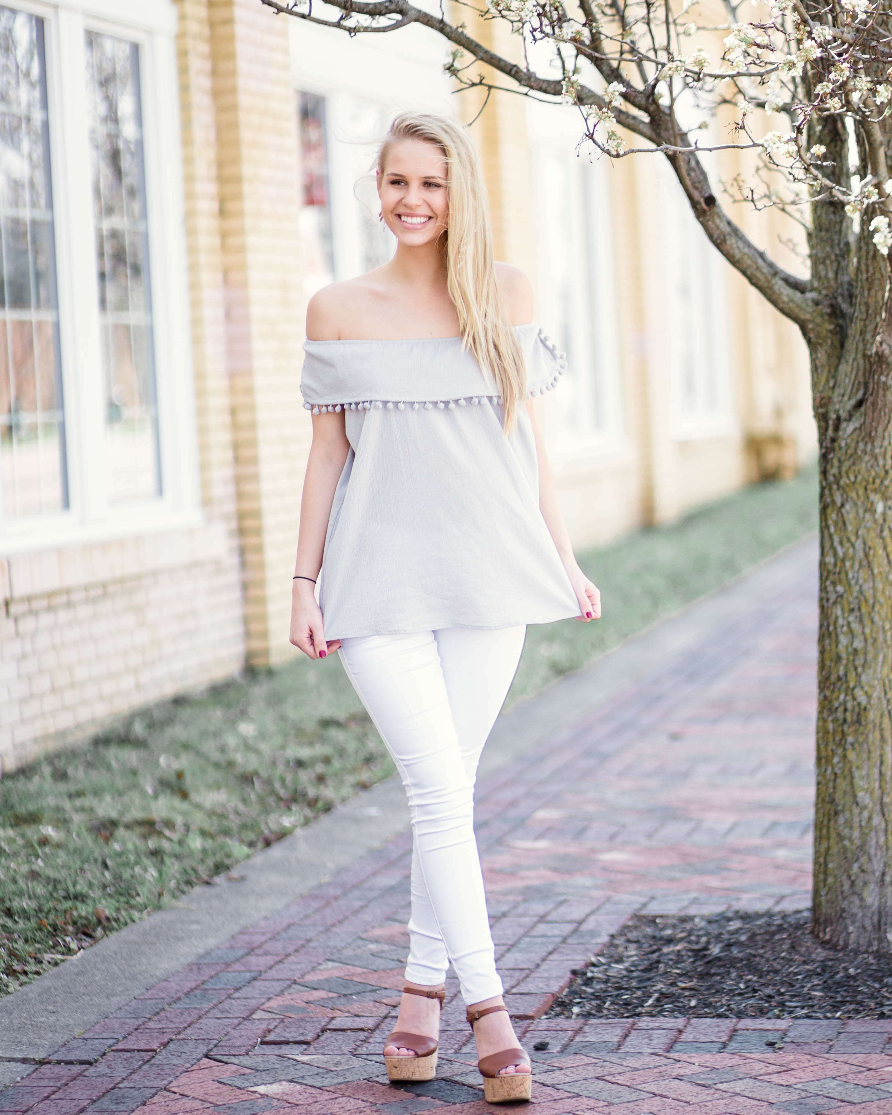 Jasmine Pom Pom Top | Rose & Remington