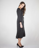 Noir Button Down Dress