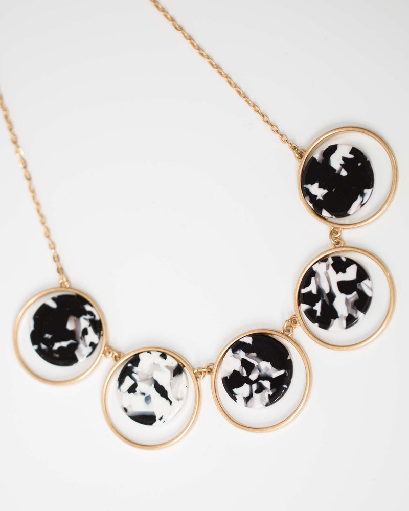 Noir Marbled Necklace