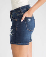 Dark Wash Distressed Short