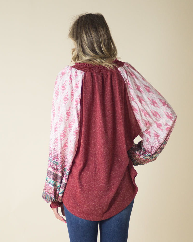 Berry Bliss Contrast Top