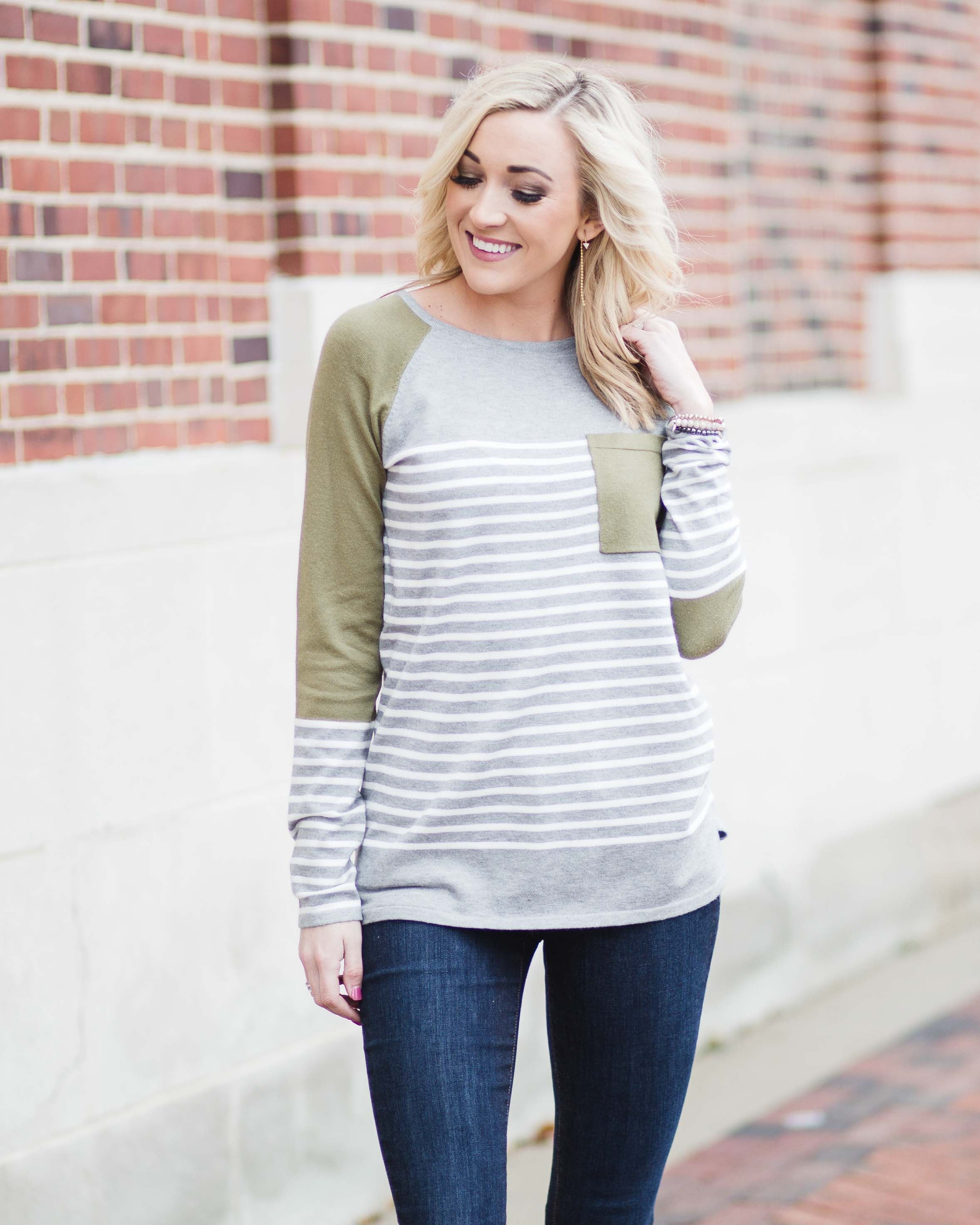 Avery Striped Knit Top