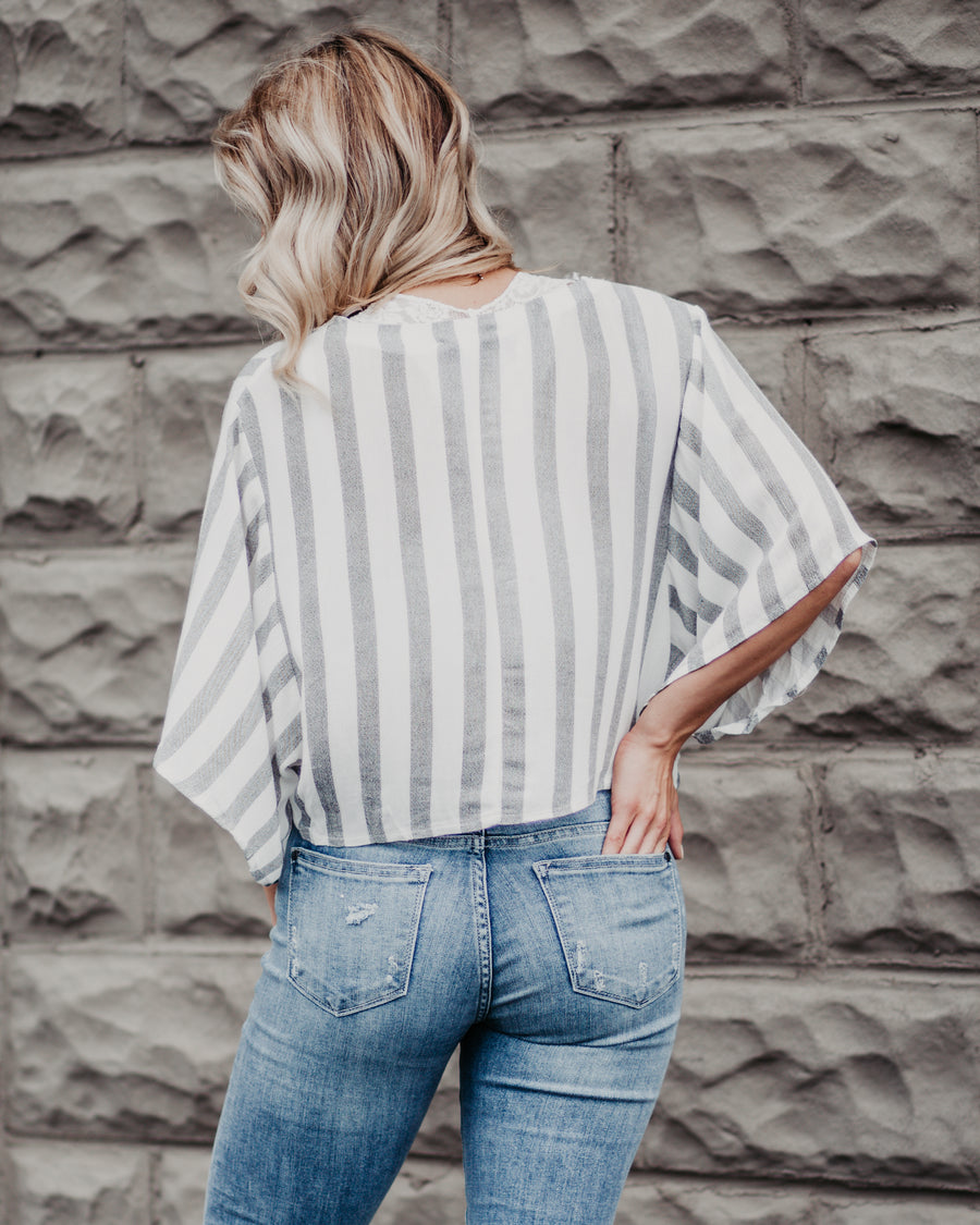 Faye Striped Cropped Top