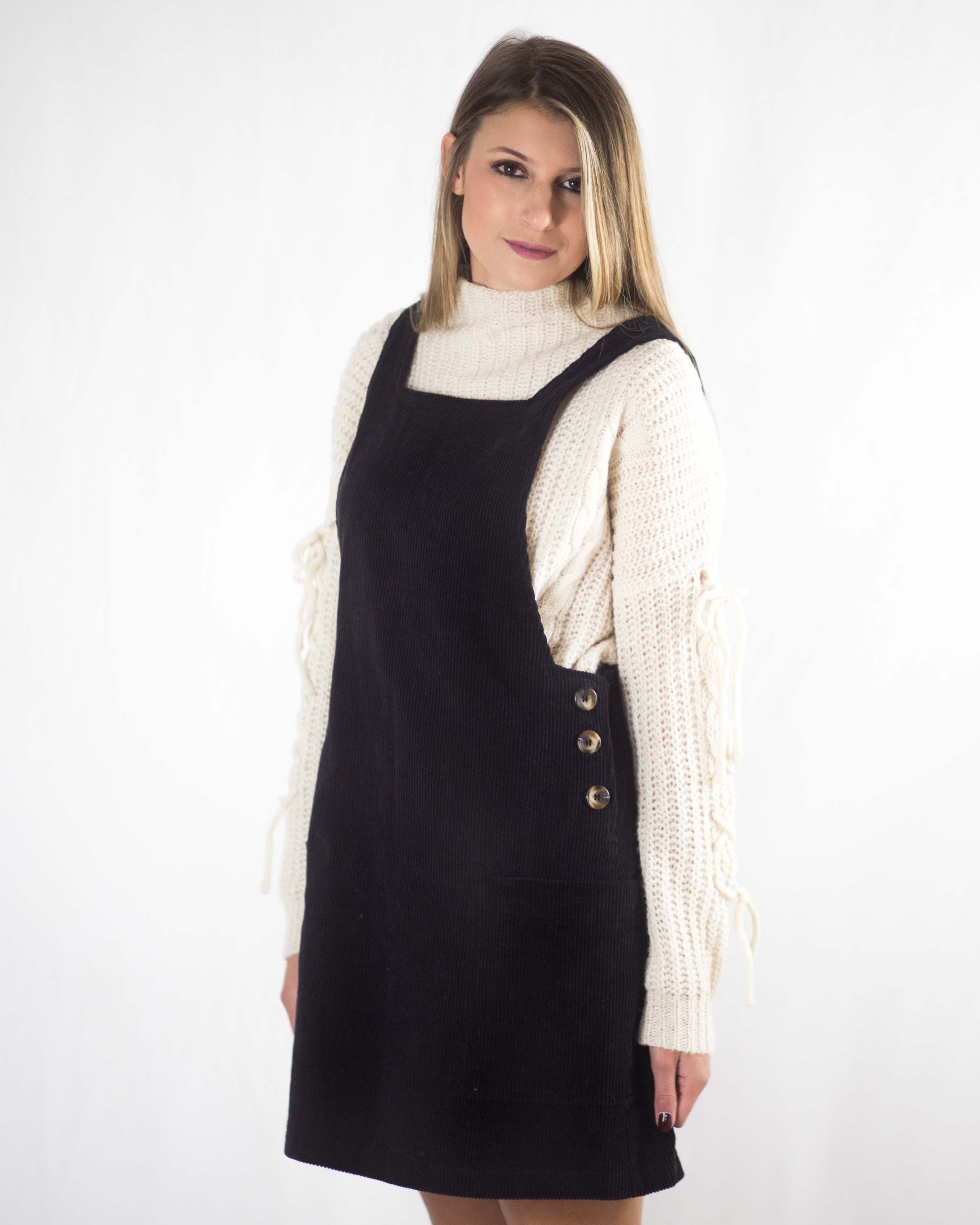 Cord Overall Dress