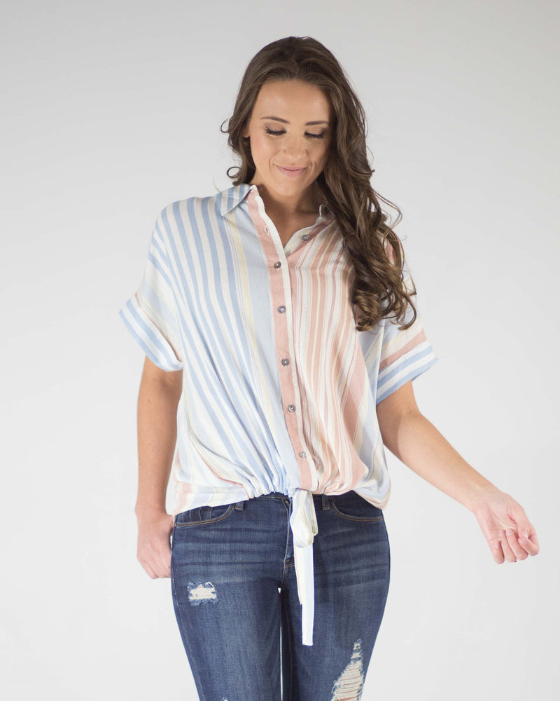 Bailey Button Down Striped Top