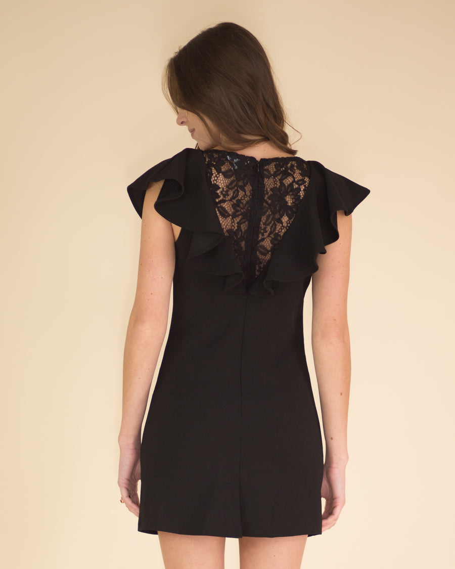 Jolie Lace Back Ruffle Dress