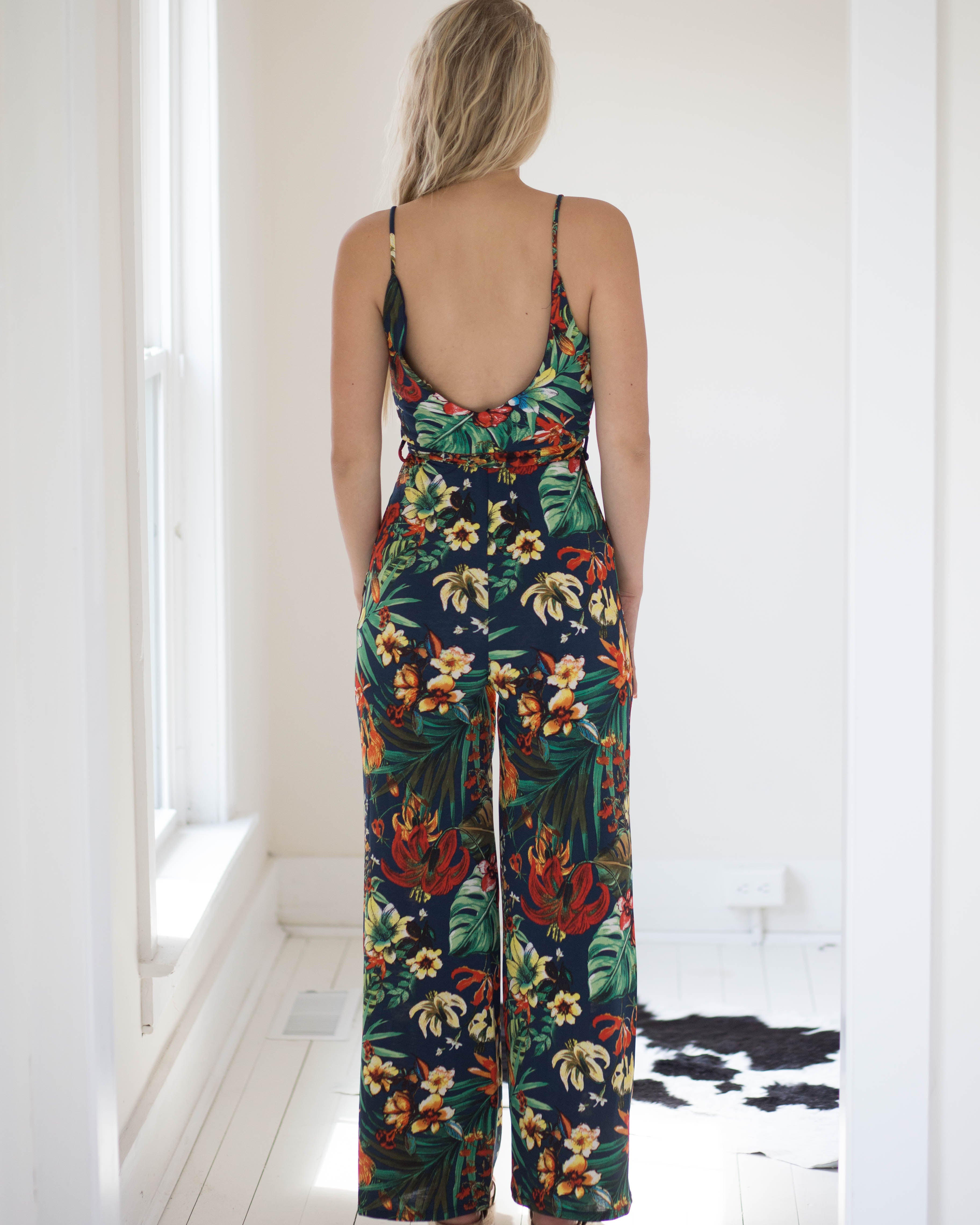 Tropical Palms Jumpsuit | Rose & Remington