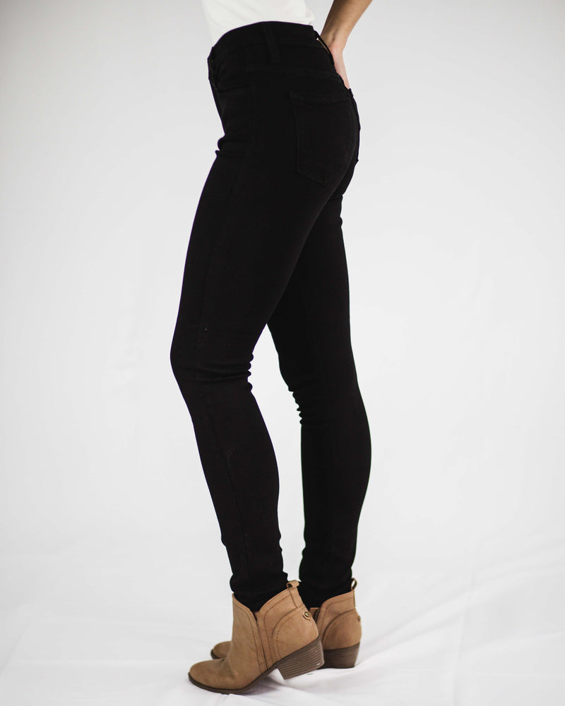 High Rise Black Skinny Jean