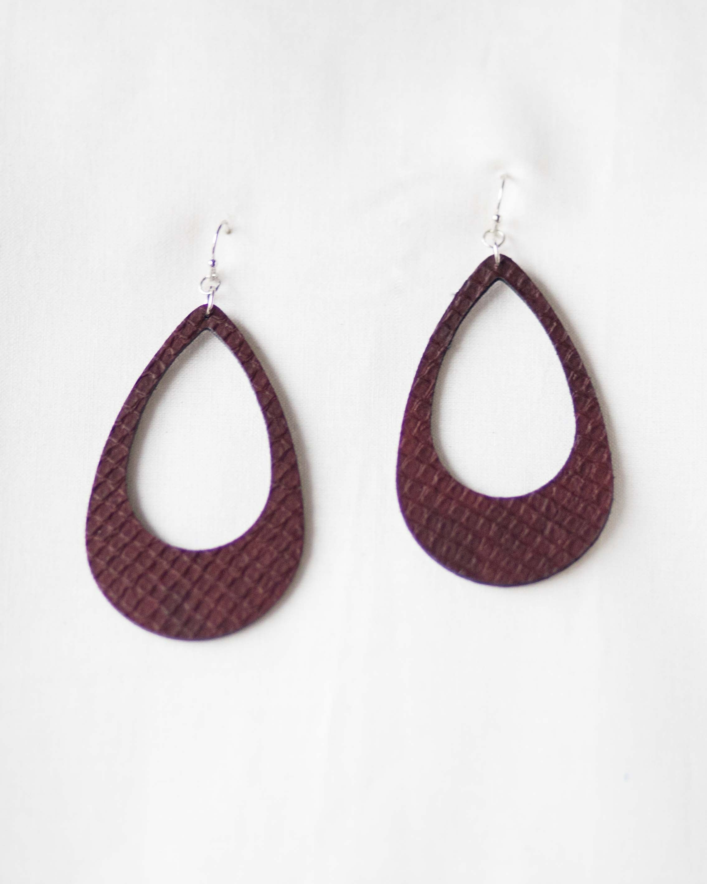Roxy Leather Teardrop Earrings