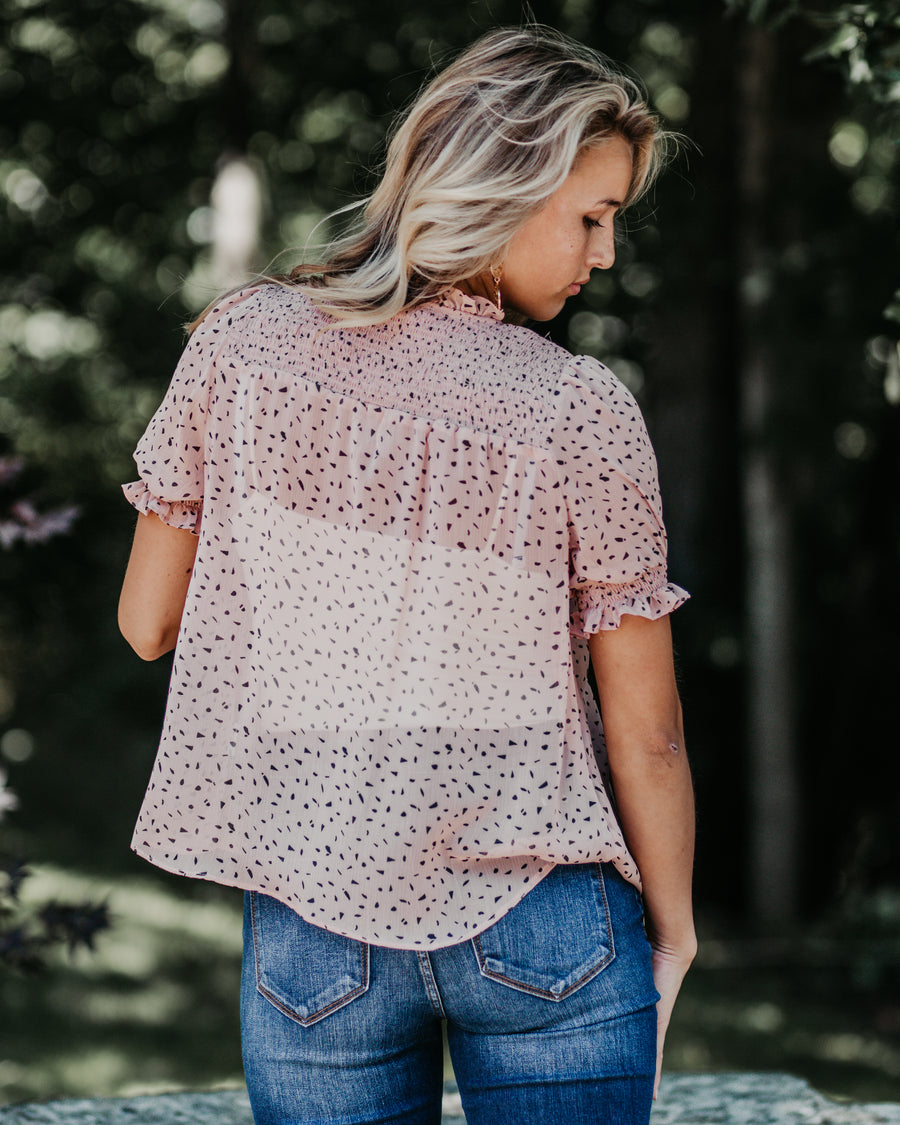 Chelsea Ruffle Dotted Top