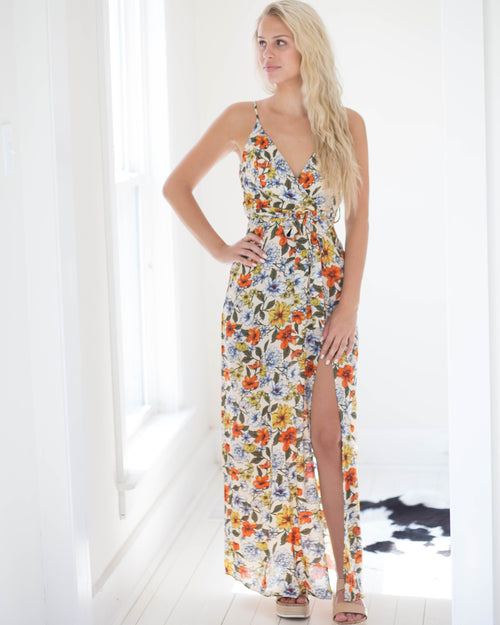 Wildflower Waist Tie Maxi Dress