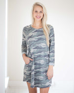Caiden Camo Pocket Dress | Rose & Remington