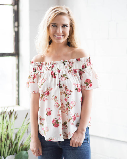 Ada Floral Off The Shoulder Top | Rose & Remington