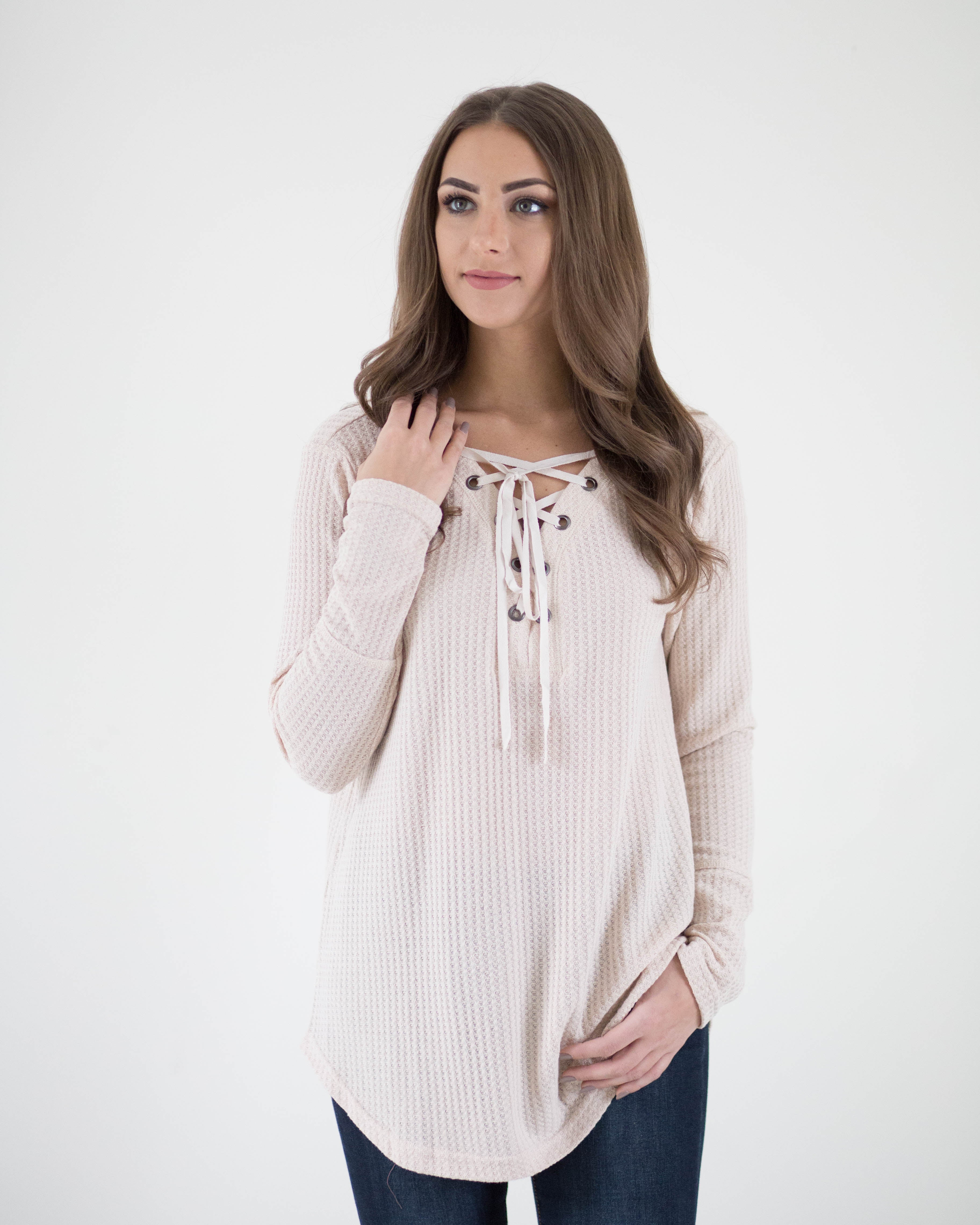 Tie Up Essential Long Sleeve | Rose & Remington