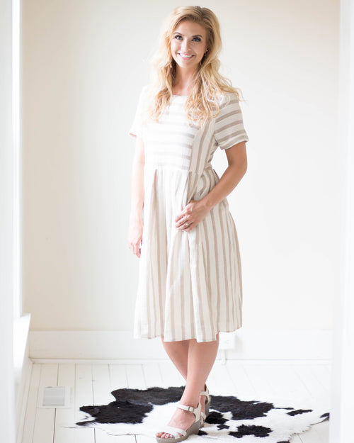 Beckett Striped Dress | Rose & Remington