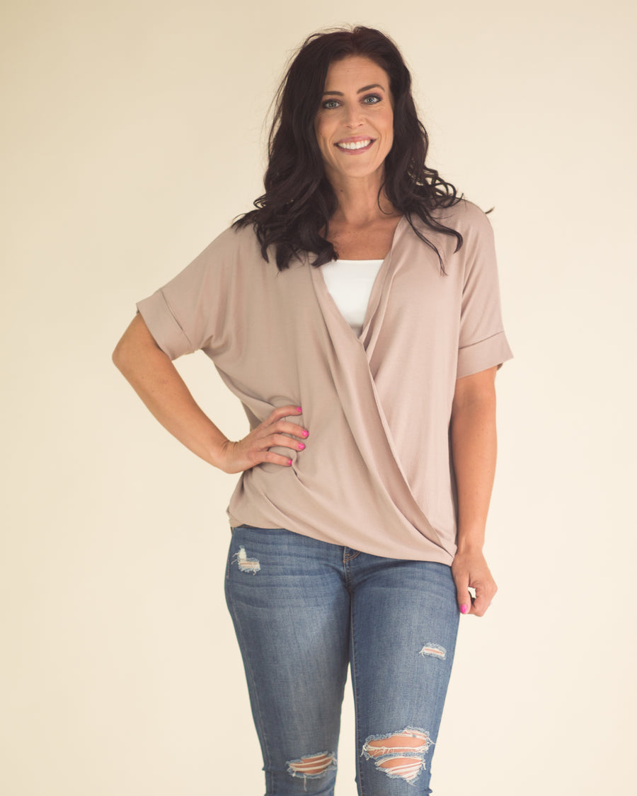 Sandra Cuffed Sleeve Top