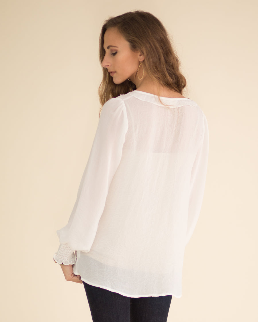 Carissa Ruffle Detail Top