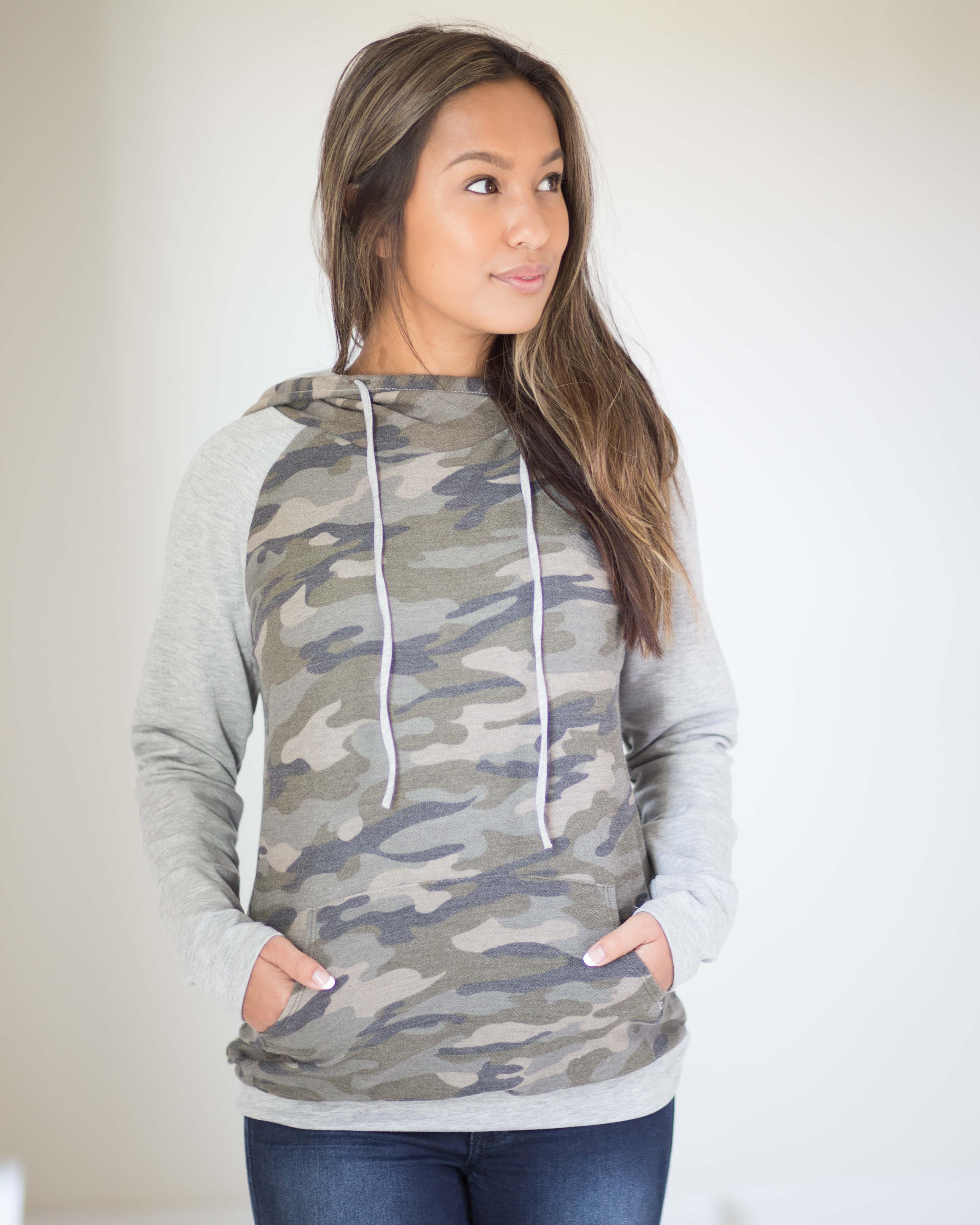 Gracie Camo Hooded Pullover