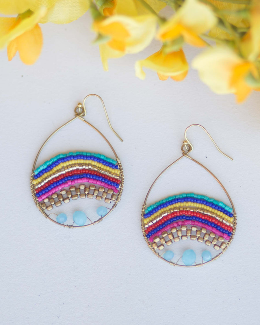 Vibrant Beaded Earrings