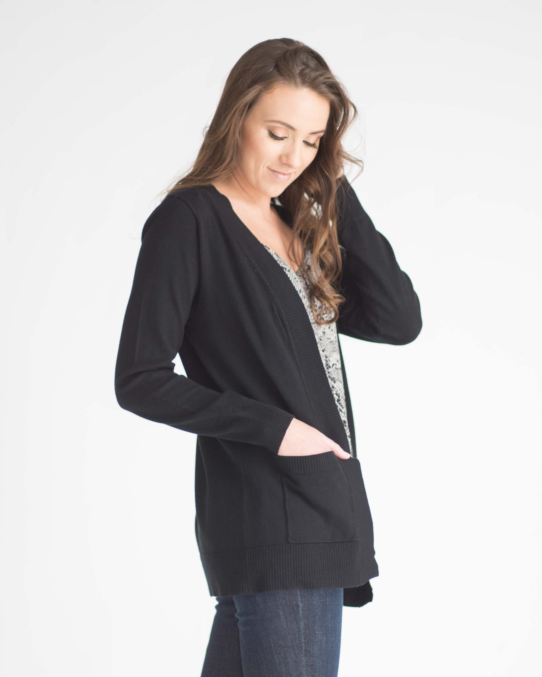 Essential Pocketed Cardigan