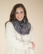 Three Button Knit Infinity Scarf