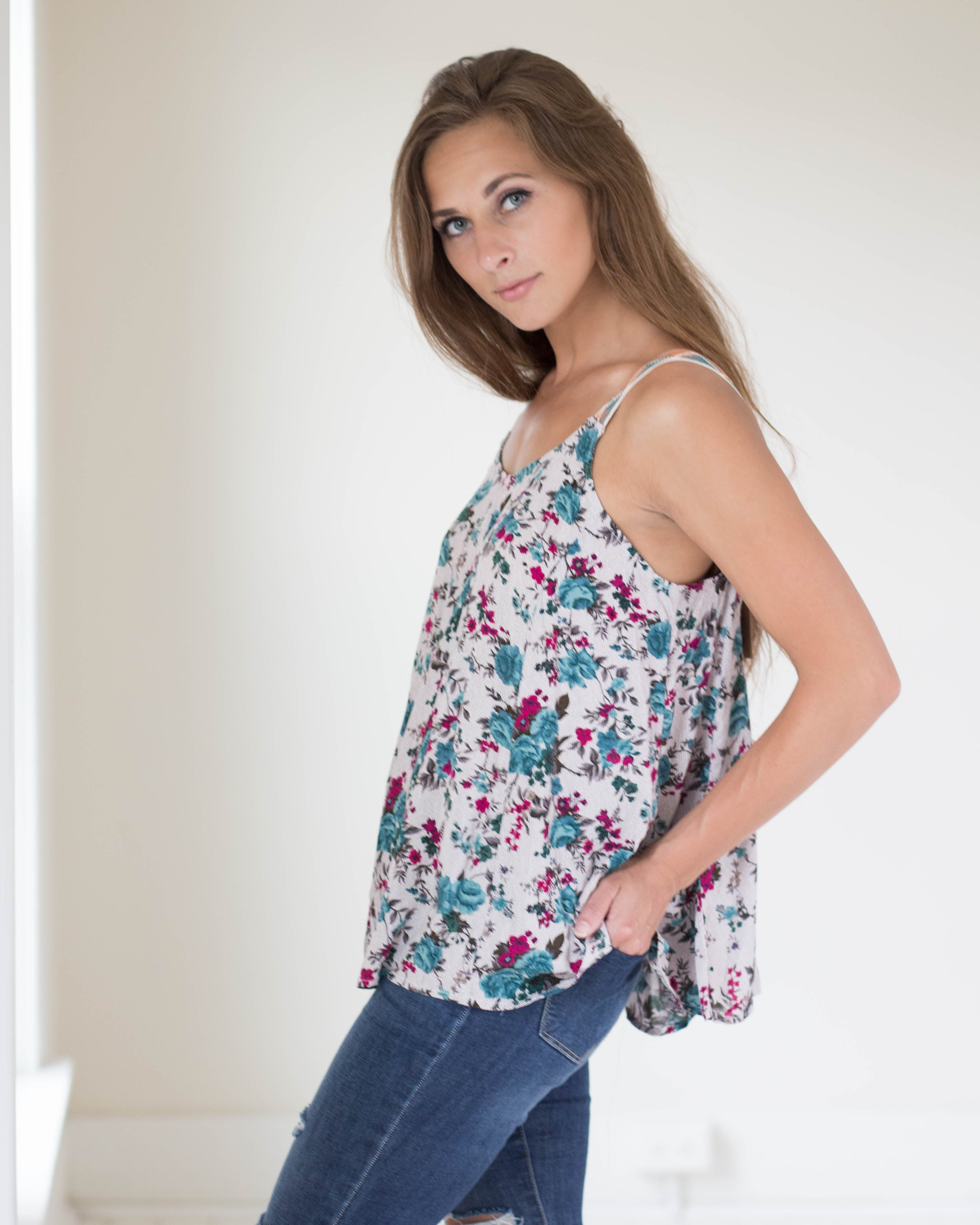 Callie Floral Swing Top | Rose & Remington
