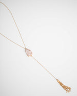 Blush Stone Tassel Necklace