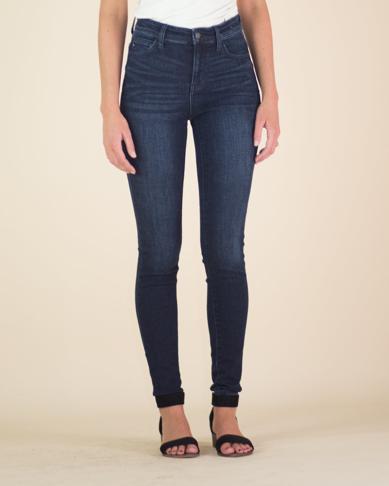 High Rise Dark Wash Skinny Jean